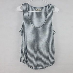 Madewell Womens Size XS White & Blue Stripped Tank